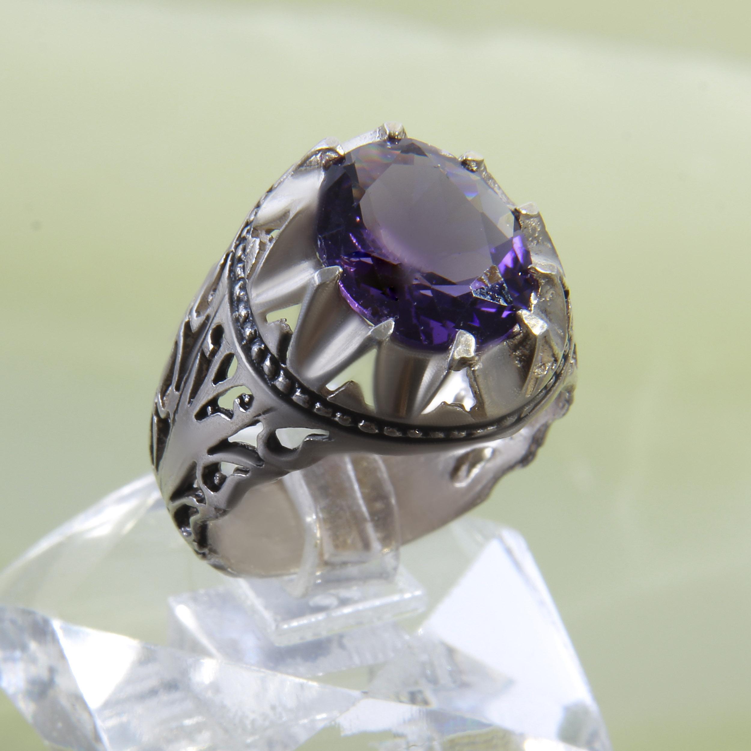 انگشتر نقره مردانه بازرگانی میلادی کد AM_267