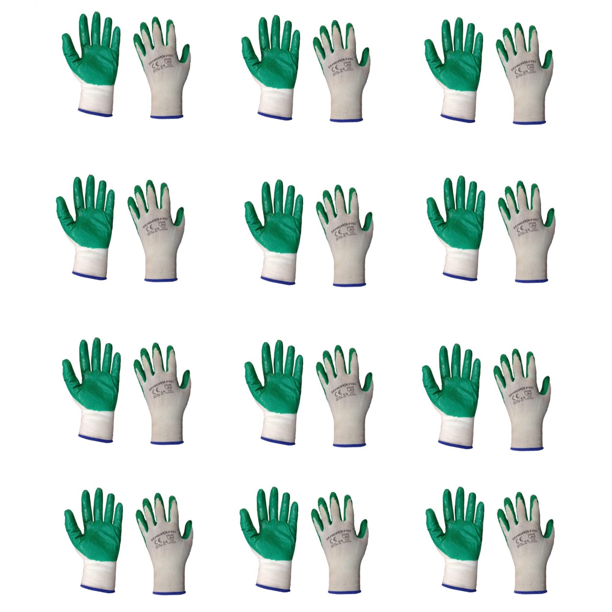 دستکش ایمنی تانگ وانگ کد 02 بسته 12 عددی