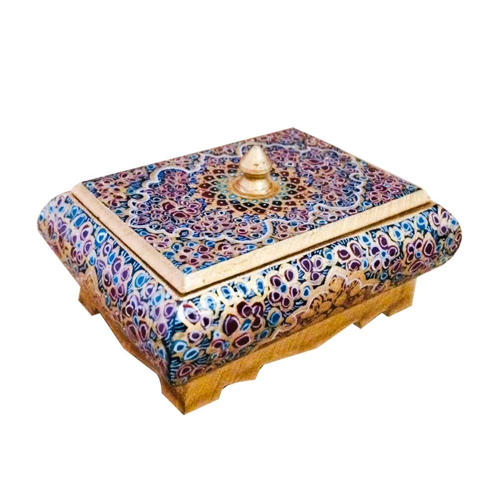 جعبه جواهرات استخوانی طرح تذهيب کد B 277