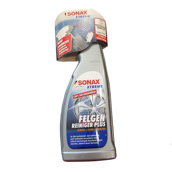 محلول تمیز کننده رینگ و لاستیک خودرو سوناکس مدل xtreme حجم 750 میلی لیتر