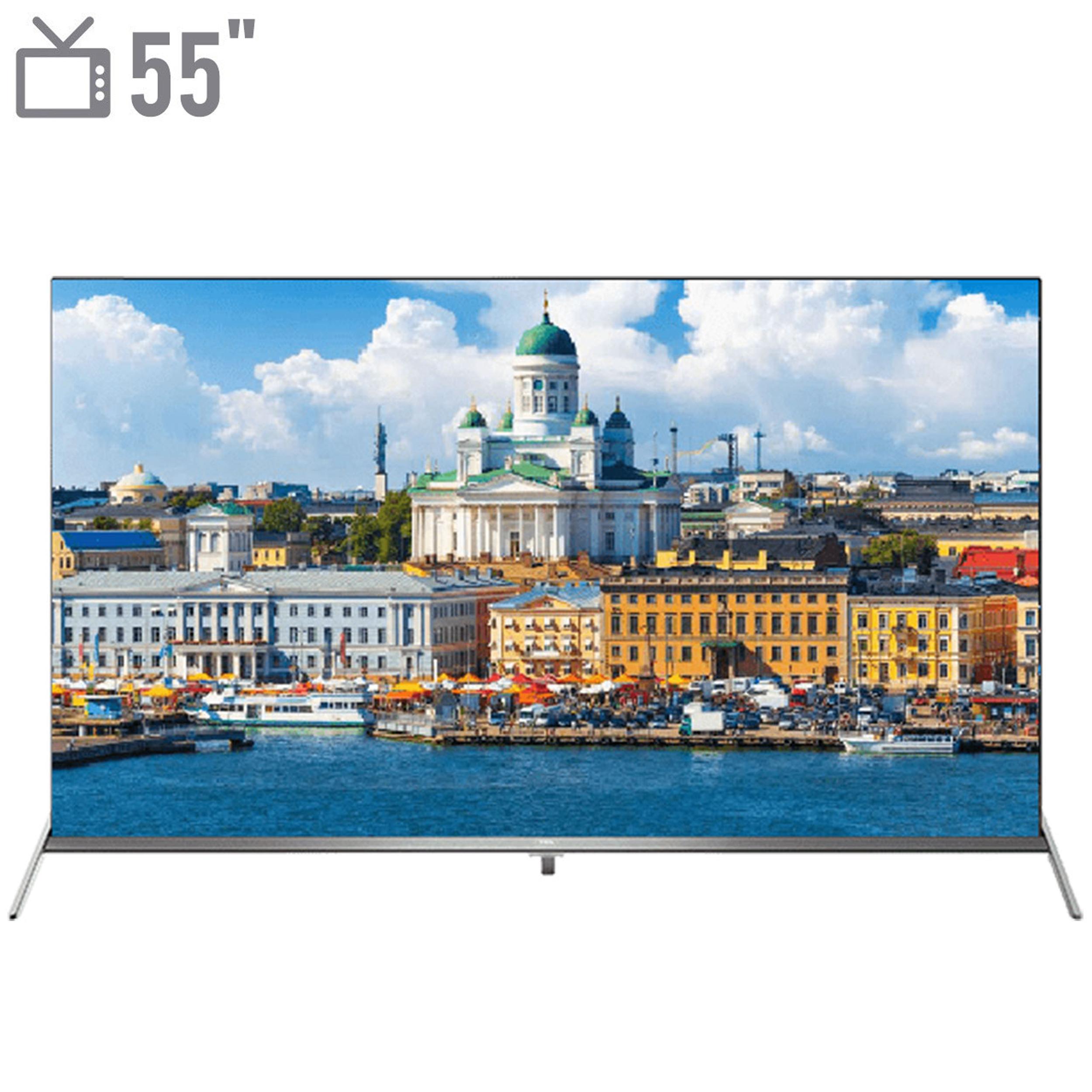تصویر تلویزیون ال ای دی هوشمند تی سی ال مدل 55P8S سایز 55 اینچ TCL LED 55P8S 55INCH
