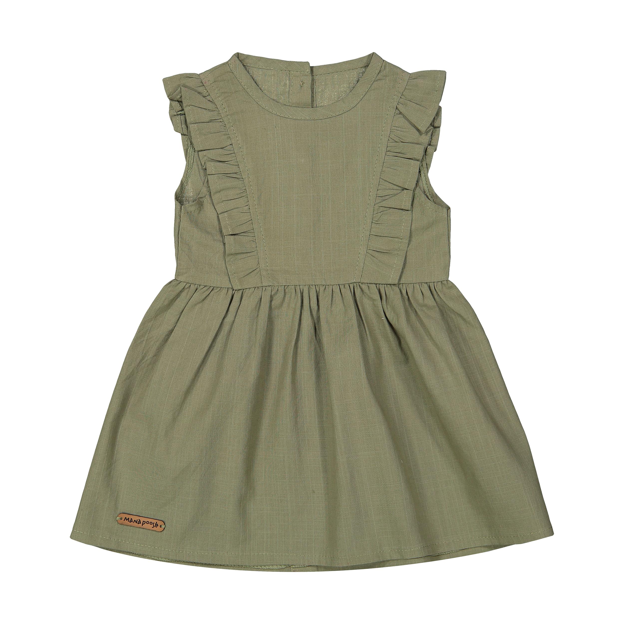 پیراهن نوزادی دخترانه ماناپوش کد 1022