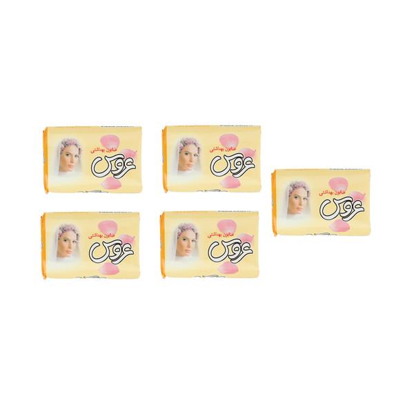 صابون شستشو عروس مدل زرد وزن 75 گرم بسته 5 عددی