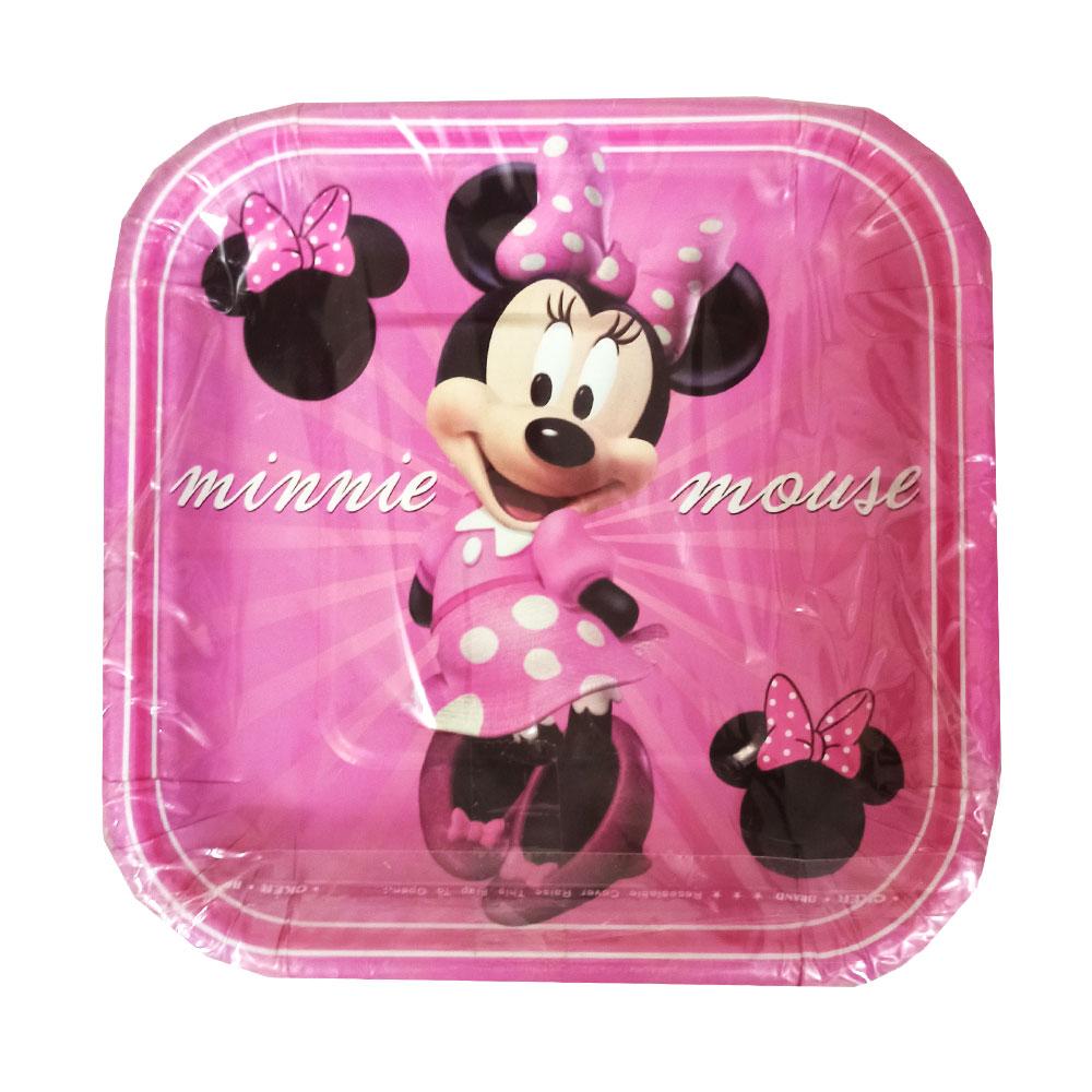 بشقاب یکبار مصرف مدل Minnie Mouse بسته 25 عددی