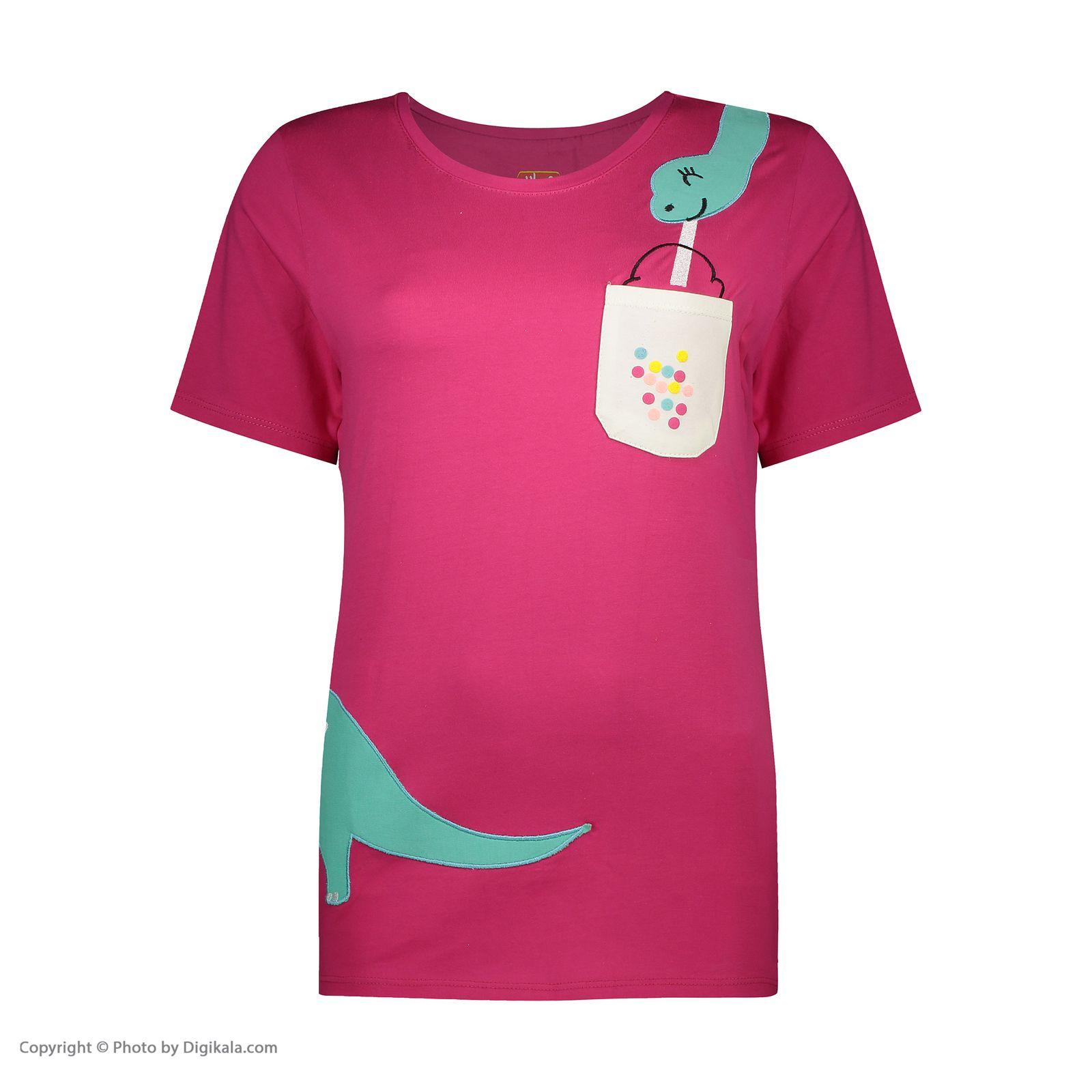 ست تی شرت و شلوارک راحتی زنانه مادر مدل 2041100-66 -  - 4