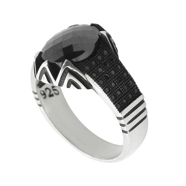 انگشتر نقره مردانه مدل Vip020hko