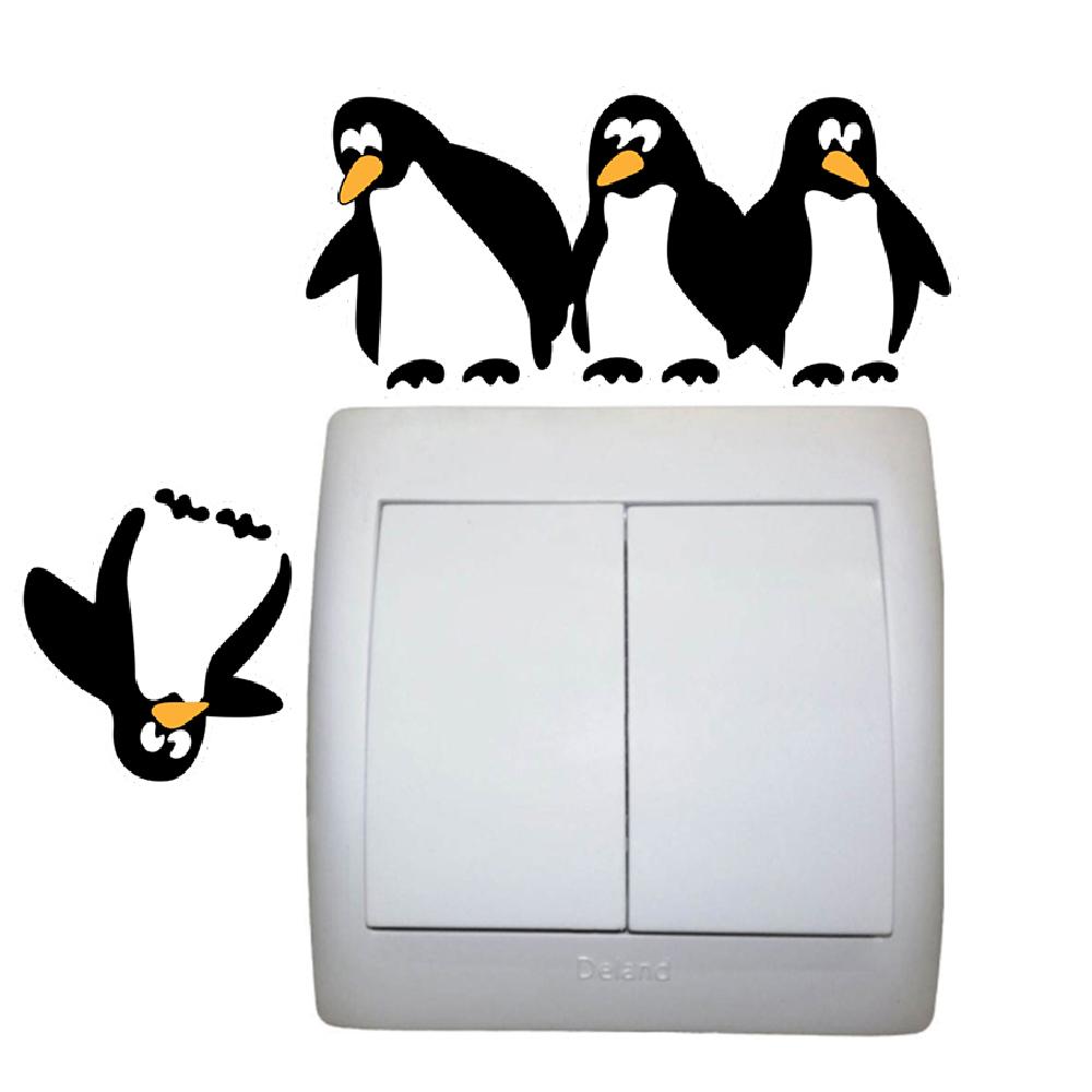 استیکر کلید و پریز مستر راد طرح پنگوئن