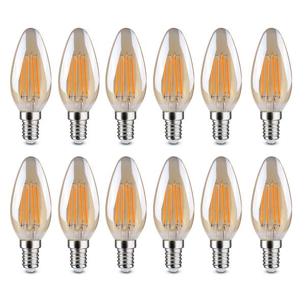 لامپ فیلامنتی 4 وات کلور مدل L-BL-0120 پایه E14 بسته 12 عددی