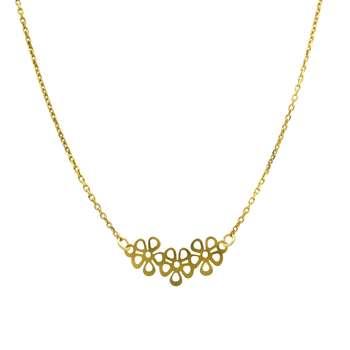 گردنبند طلا 18 عیار زنانه مانچو کد sfgs025