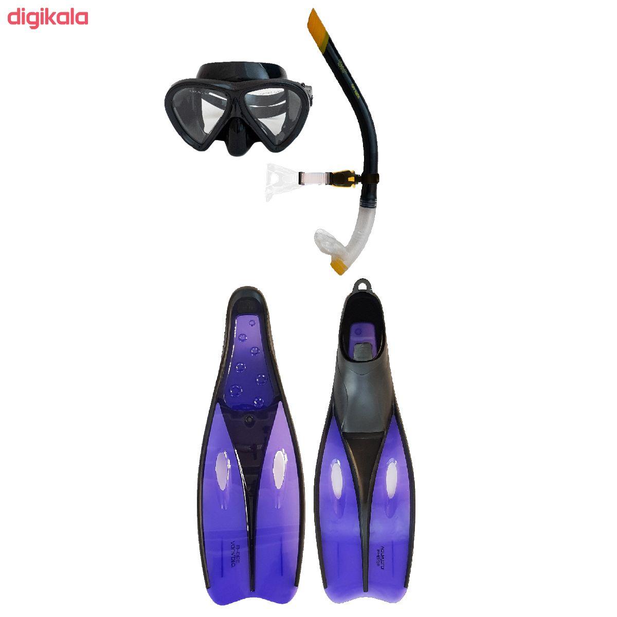 عینک و اسنورکل و فین غواصی آکوا پرو کد 58924 main 1 2