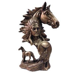 مجسمه طرح اسب سرخپوست مدل S00015