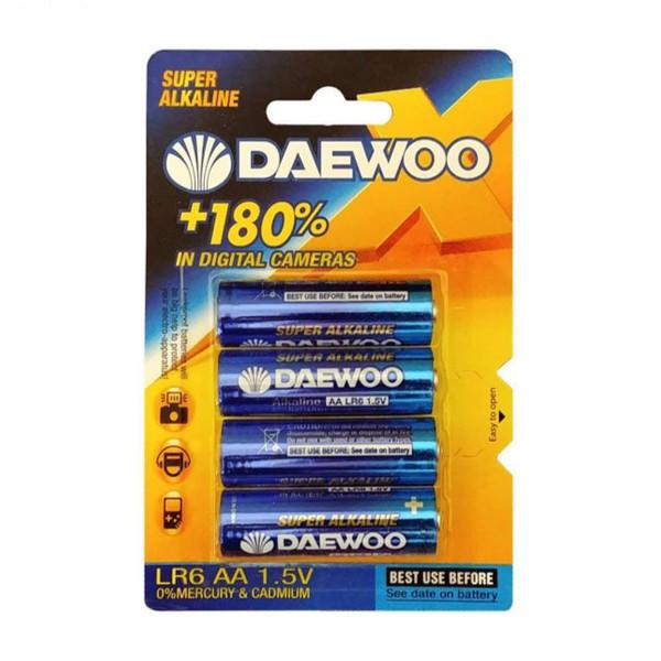 باتری قلمی دوو مدل سوپر آلکالاین بسته ۴ عددی