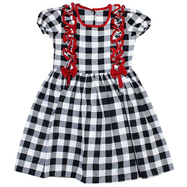 پیراهن دخترانه مدل چهارخونه کد SE2