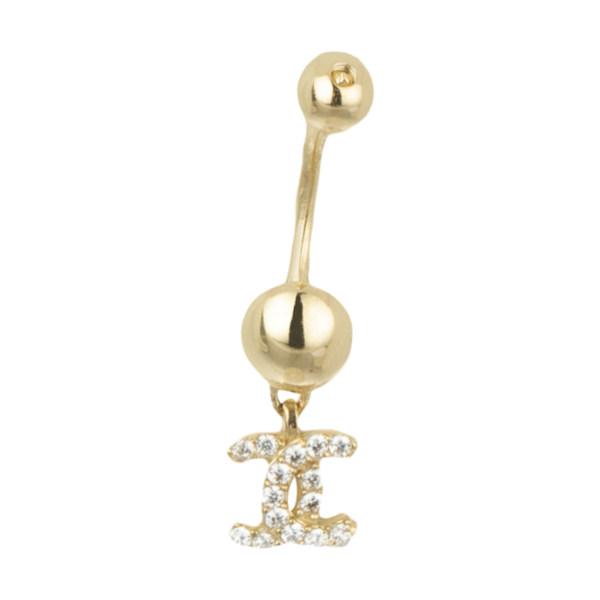 پیرسینگ طلا 18 عیار زنانه مایا ماهک مدل MO0107