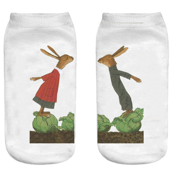 جوراب بچگانه طرح خرگوش کد o44