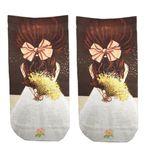 جوراب زنانه  طرح عروس کد 6010
