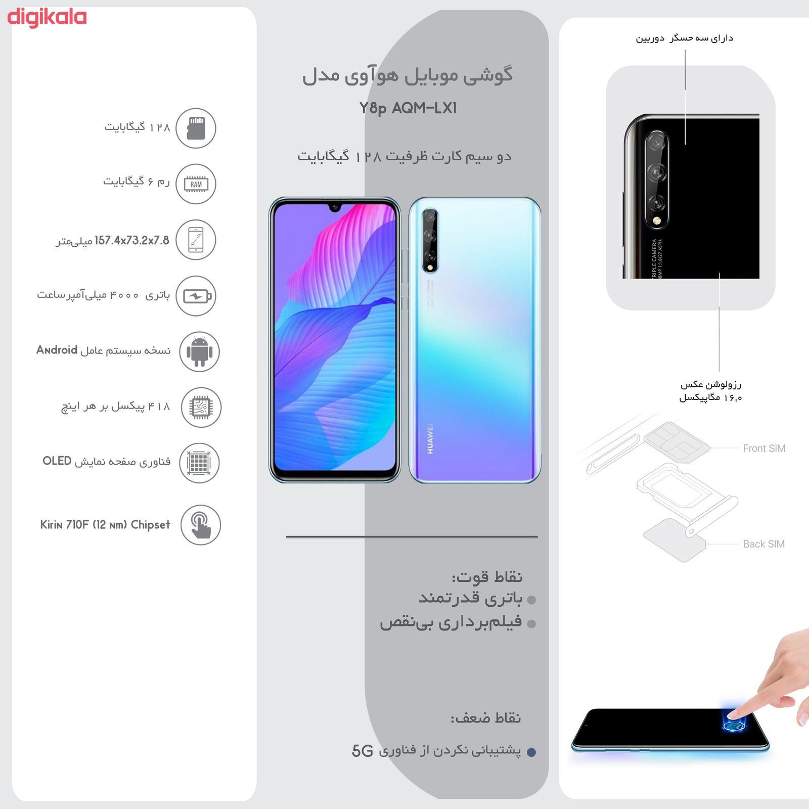 گوشی موبایل هوآوی مدل Y8p AQM-LX1 دو سیم کارت ظرفیت 128 گیگابایت main 1 11