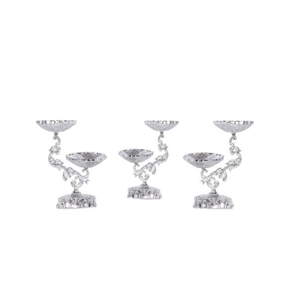 مجموعه ظروف هفت سین ۳پارچه مدل یاقوت