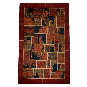 فرش دستبافت 9 متری ساده مدل چهل تکه و حاشیه کد 20090092
