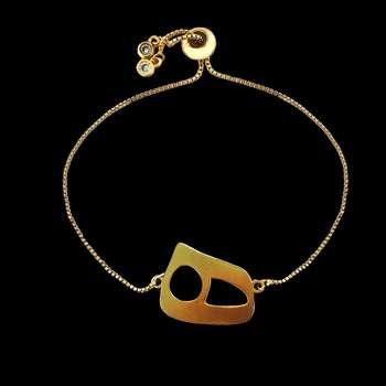 دستبند زنانه گالری عزیزی طرح حرف ه مدل gz99571