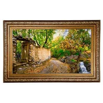 تابلو فرش دستبافت طرح کوچه باغ کد 387562