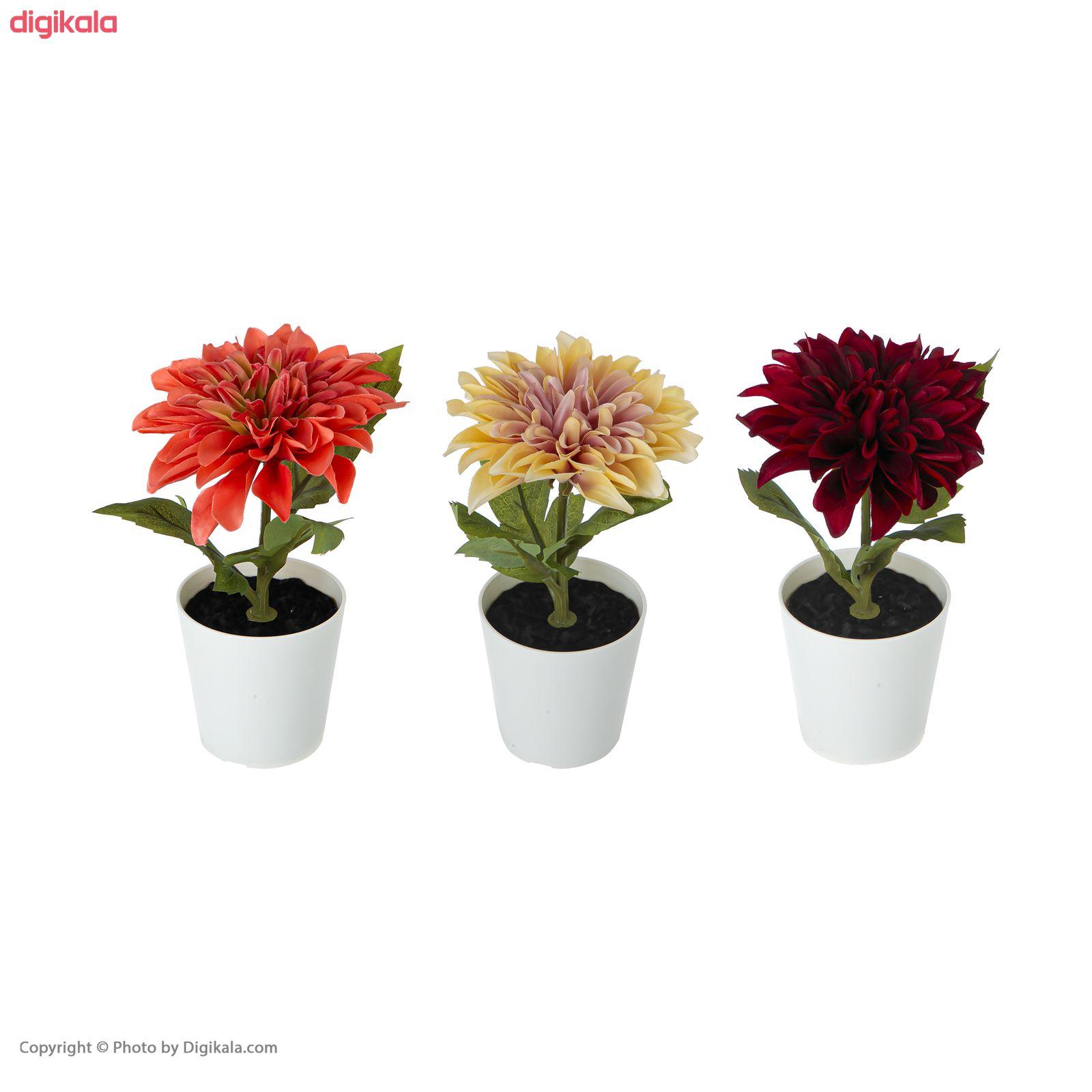 گلدان به همراه گل مصنوعی ایکیا مدل FEJKA مجموعه 3 عددی main 1 3