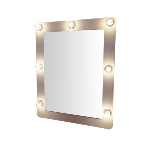 آینه رومیزی مدل لامپی