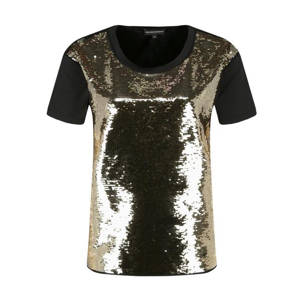 تی شرت آستین کوتاه زنانه امپریو آرمانی مدل 3H2T6S2JWRZ-0999