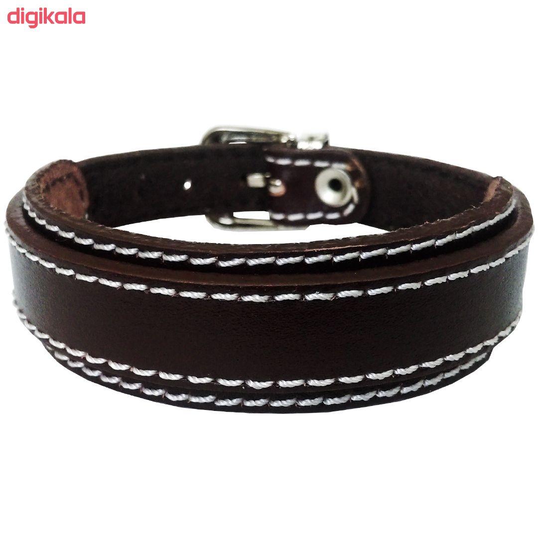 دستبند چرم وارک مدل رهام کد rb207 main 1 5