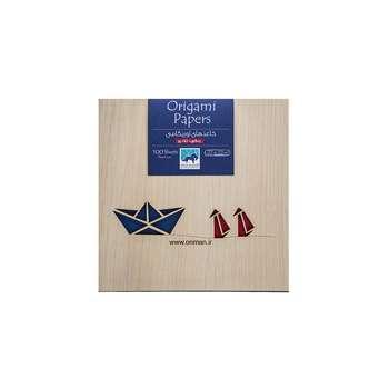 بسته کاغذ اوریگامی اوریمان مدل رنگی تک رو بزرگ