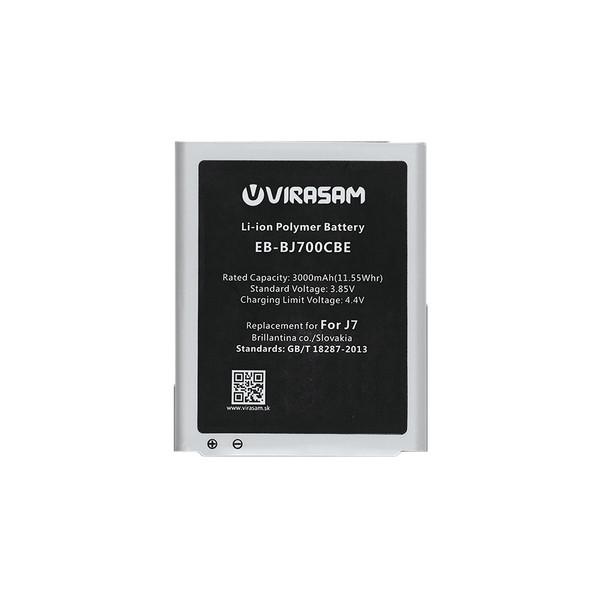 باتری موبایل ویراسام مدل J7 با ظرفیت ۳۰۰۰ میلی آمپر ساعت مناسب برای گوشی موبایل سامسونگ مدل Galaxy J7