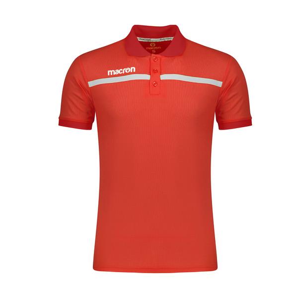 پولوشرت ورزشی مردانه مکرون مدل جمیرا رنگ قرمز