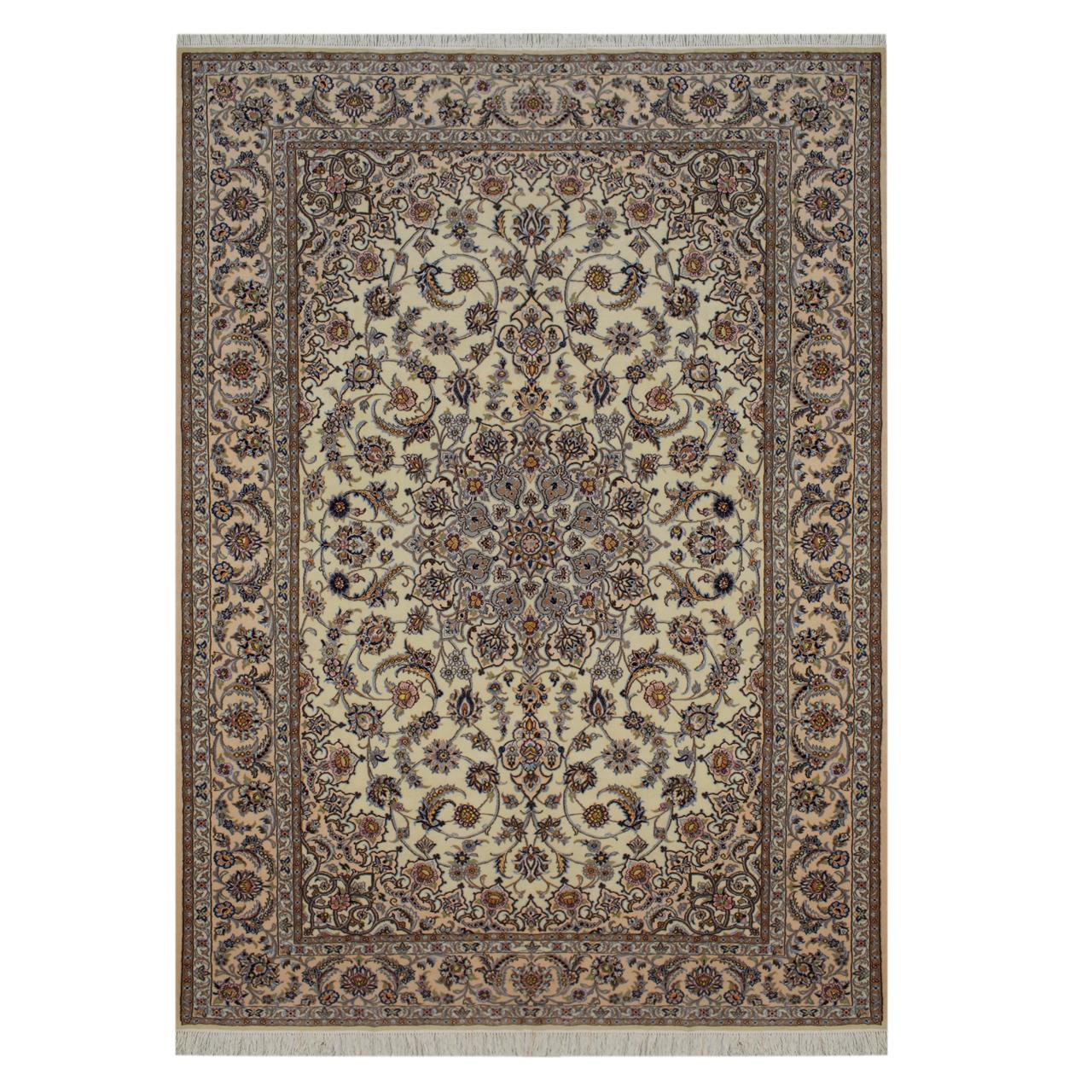 فرش دستبافت شش و نیم متری مدل نایین کد 1105753