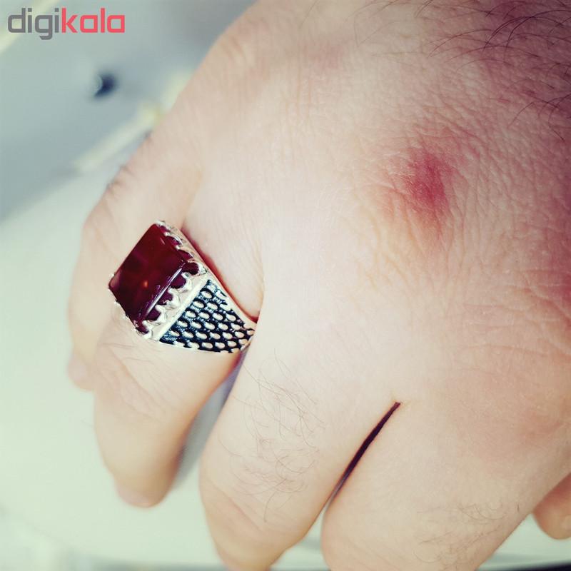 انگشتر نقره مردانه مدل topi87