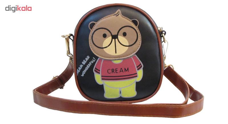 کیف دوشی دخترانه مدل Cream Bear