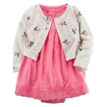 ست 2 تکه لباس نوزادی دخترانه کارترز مدل 830 |