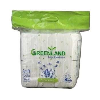 دستمال کاغذی 300 برگ گرین لند مدل اقتصادی  بسته 3 عددی |