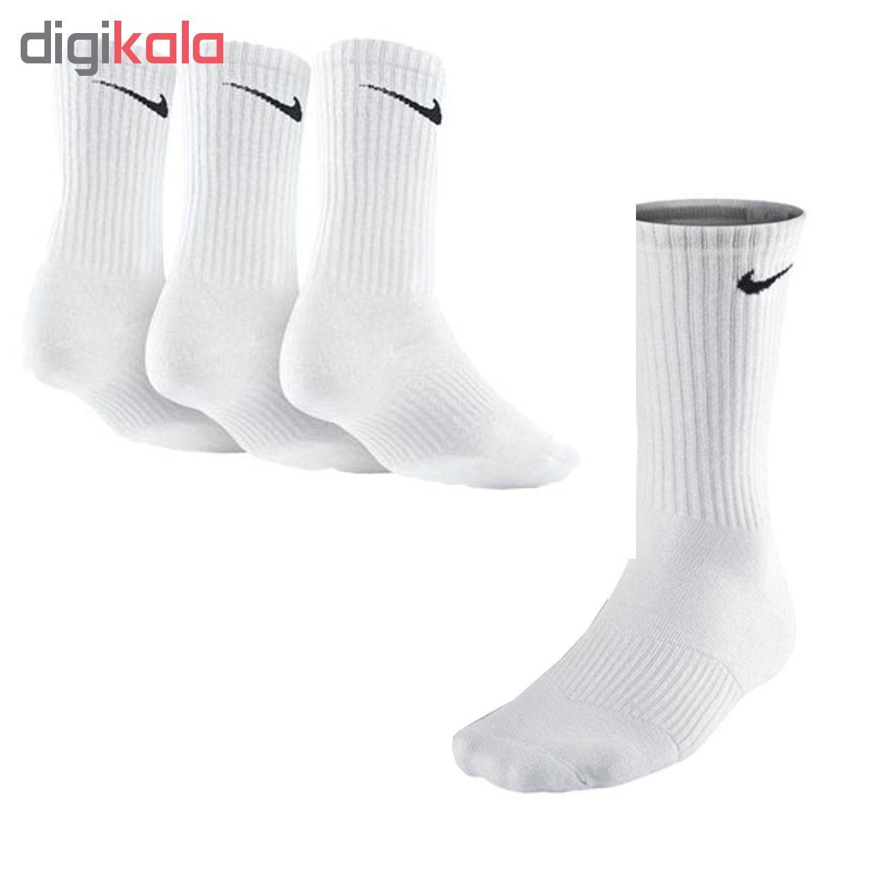 جوراب نخی ورزشی مدل کف حوله ای کد H102 -  - 3