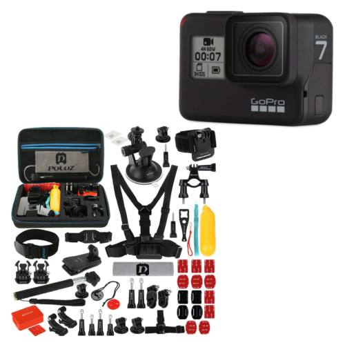 دوربین فیلم برداری ورزشی گوپرو مدل HERO7 Black Quick Stories به همراه لوازم جانبی پلوز