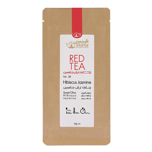 دمنوش چای ترش جاسمین فلوریست مقدار 32 گرم