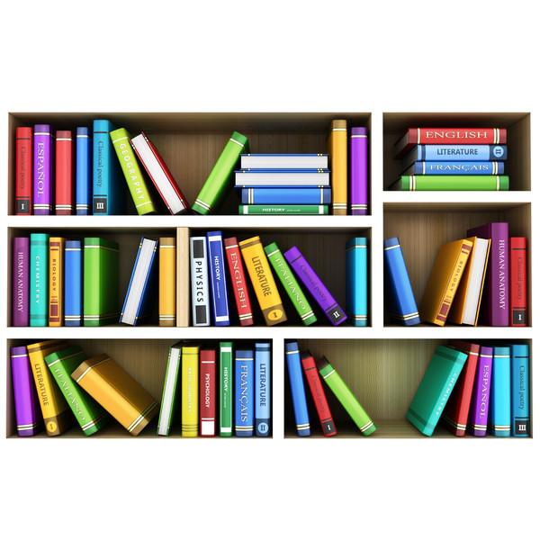 استیکر سه بعدی ژیوار طرح کتابخانه کد 440