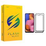محافظ صفحه نمایش فلش مدل +HD مناسب برای گوشی موبایل سامسونگ Galaxy A20s بسته دو عددی
