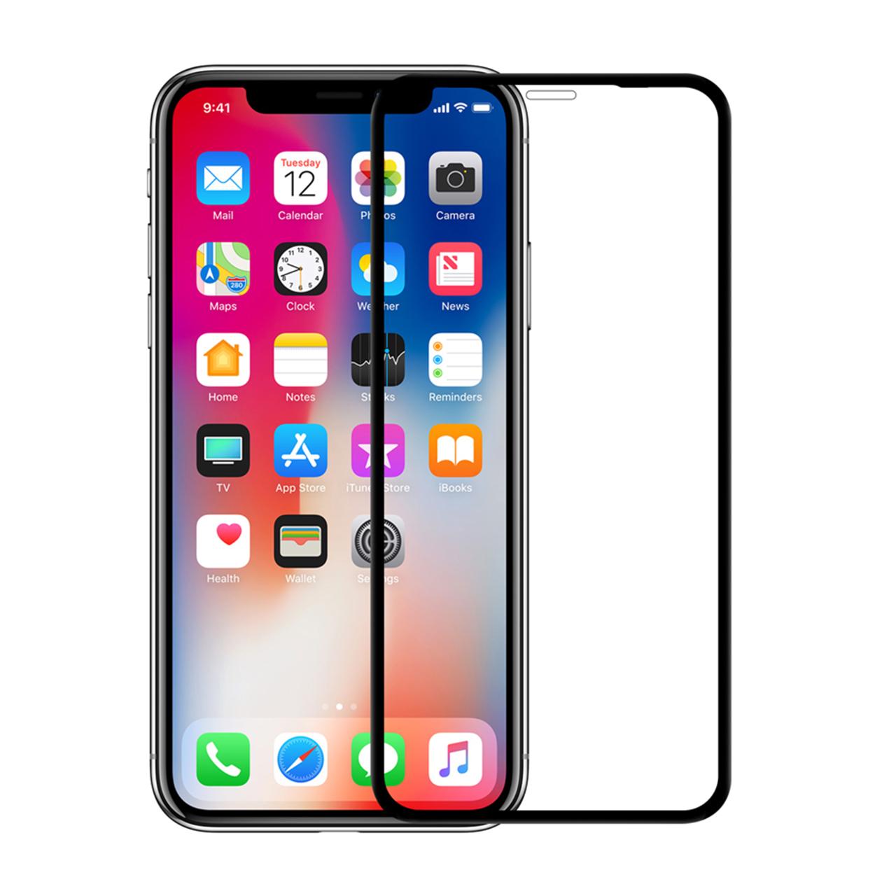 محافظ صفحه نمایش نیکسو مدل FG مناسب برای گوشی موبایل اپل Iphone XR