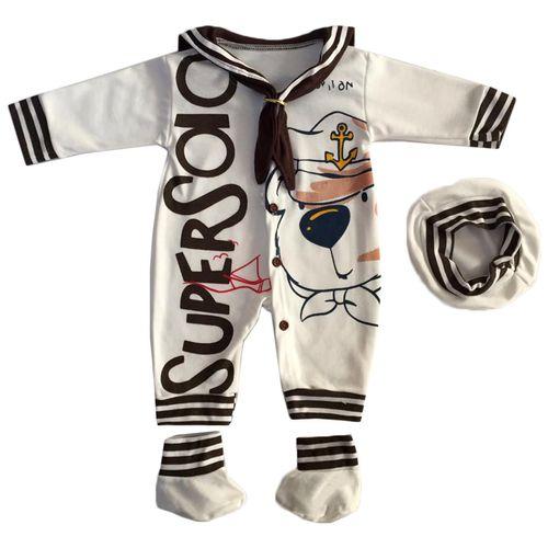 ست لباس نوزادی طرح ملوان کوچک کد 021