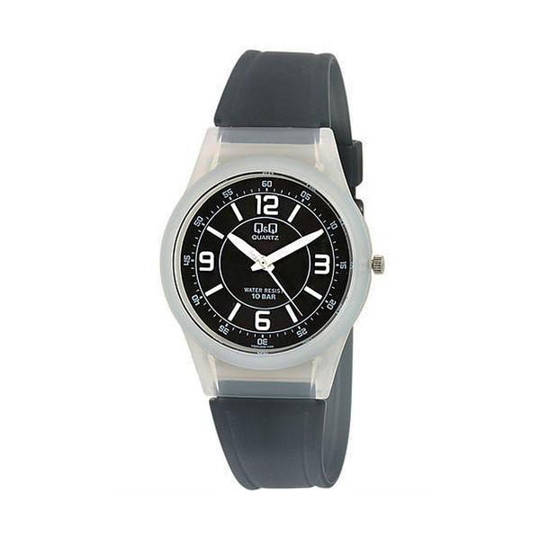 ساعت مچی عقربه ای کیو اند کیو مدل vq50j006y به همراه دستمال مخصوص برند کلین واچ