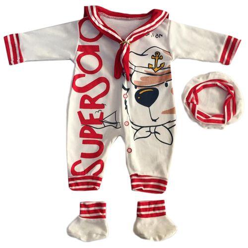 ست لباس نوزادی طرح ملوان کوچک کد 022