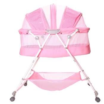 تخت و گهواره نوزاد اسپرینگ مدل سانی خالدار | Spring Spotted Sunny Baby Bed And Cradle