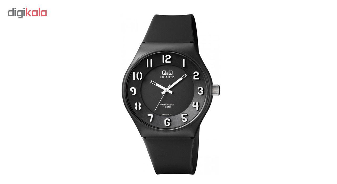 ساعت مچی عقربه ای مردانه کیو اند کیو مدل vr36j014y به همراه دستمال مخصوص برند کلین واچ