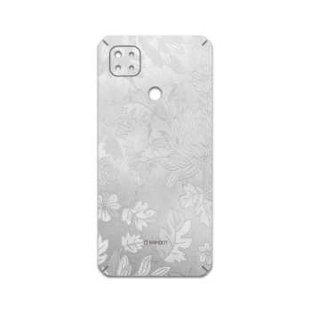 برچسب پوششی ماهوت مدل Silver-Wildflower مناسب برای گوشی موبایل شیائومی Redmi 9C NFC