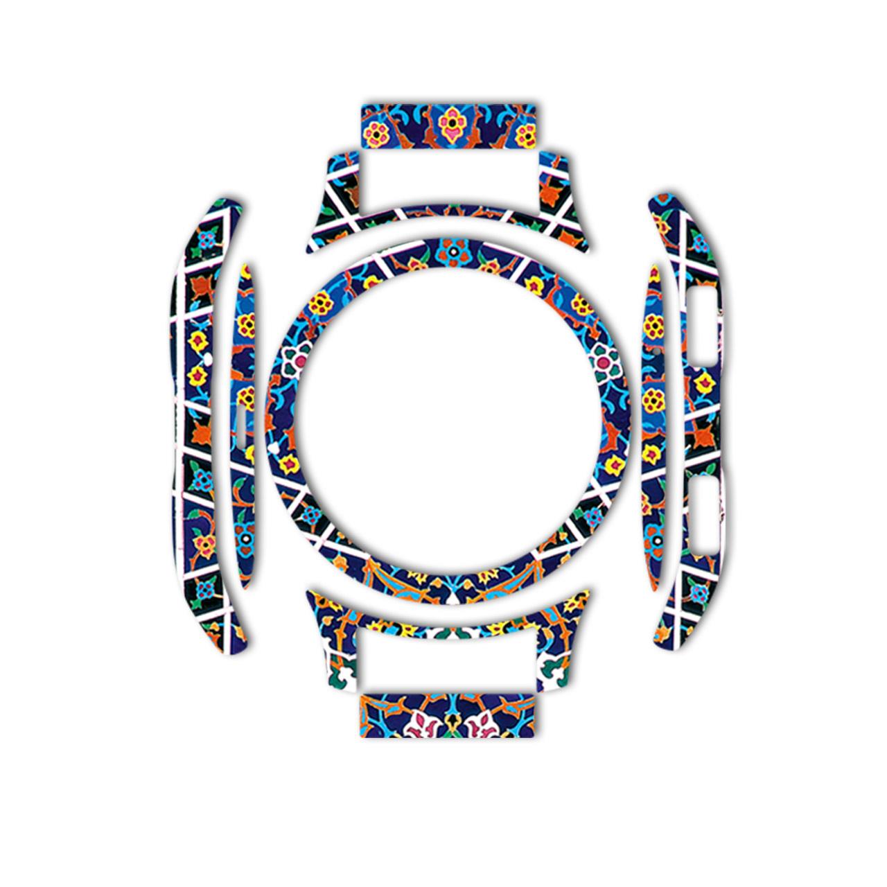 بسته 2 عددی برچسب ماهوت مدل Imam Reza shrine-tile Design مناسب برای ساعت هوشمند Samsung Galaxy Watch 46mm